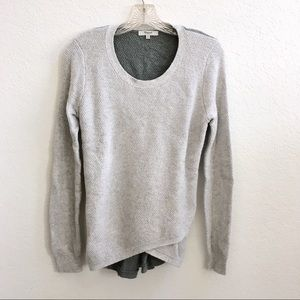 Adorable Madewell Gray & Green Sweater